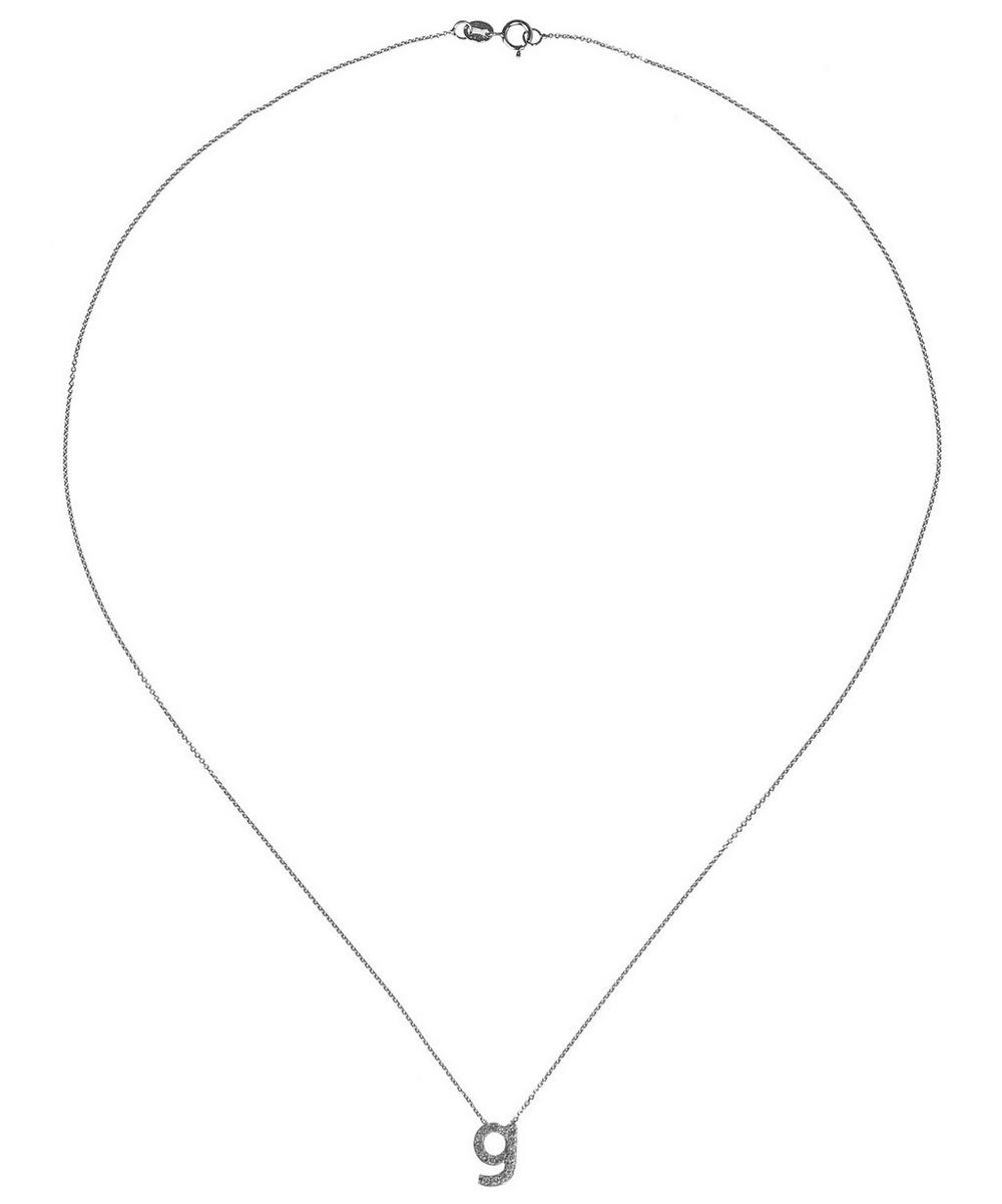 White Gold Diamond Letter G Necklace