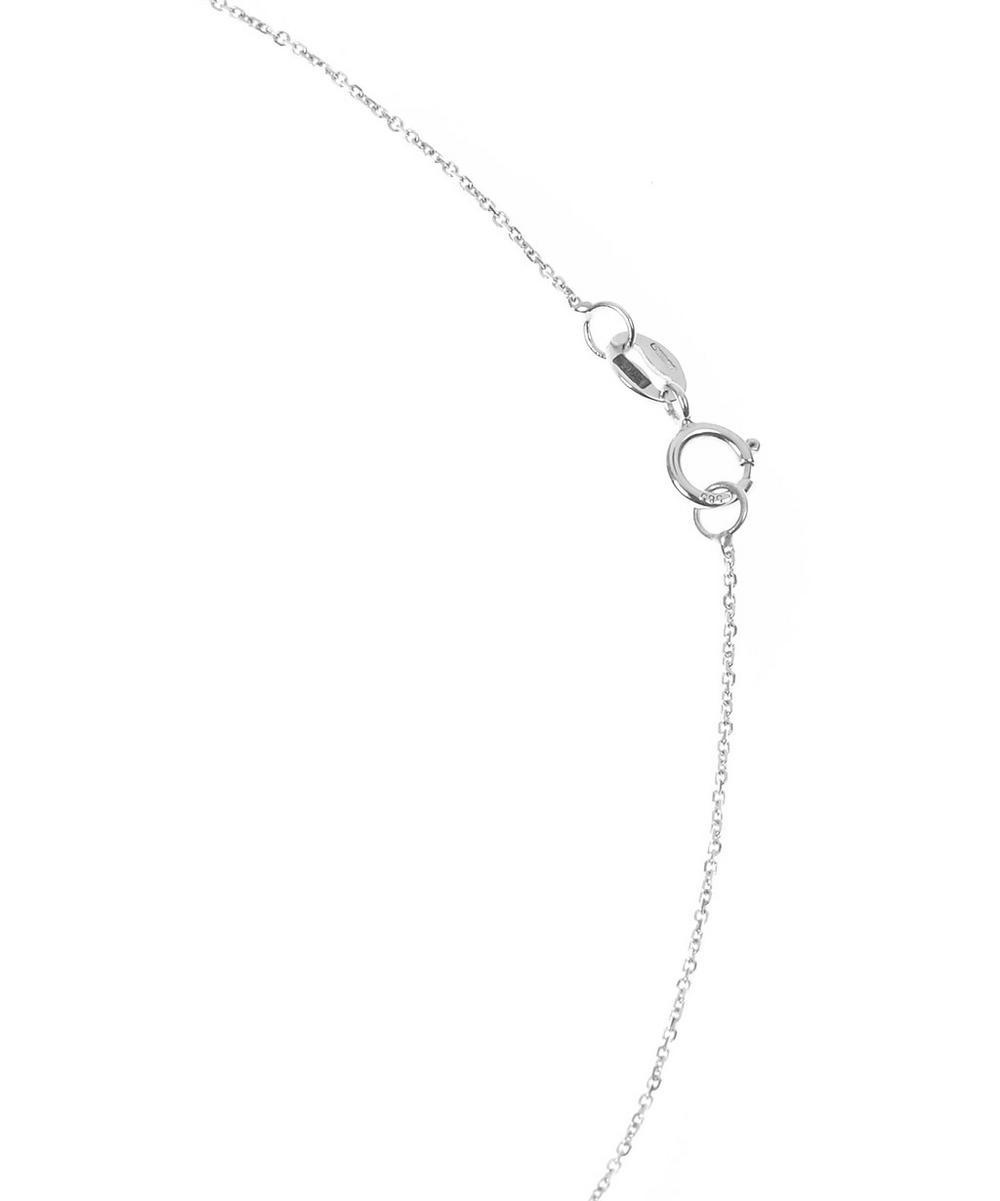White Gold Diamond Letter P Necklace