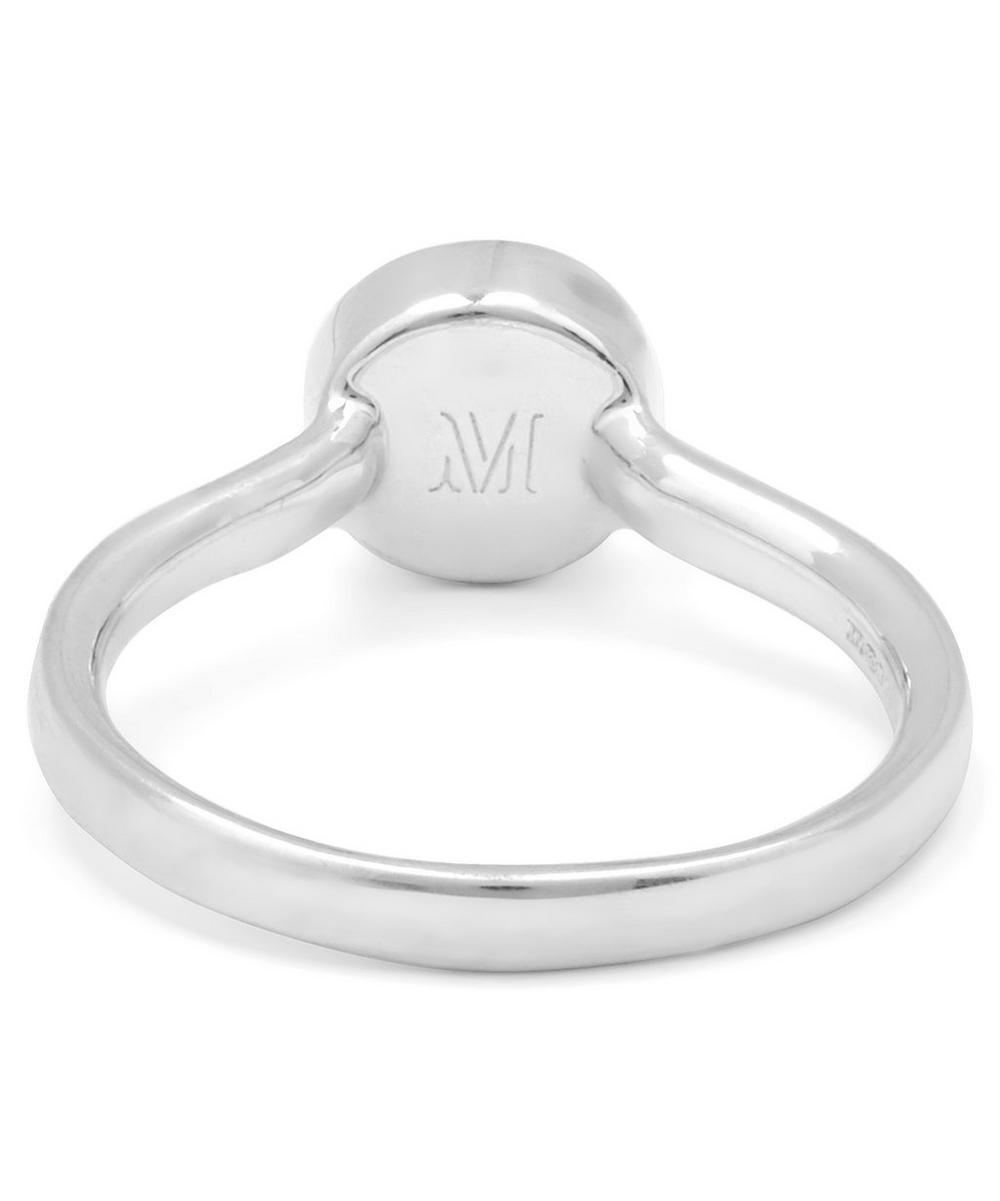 Silver Diamond Ava Button Ring