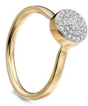 Gold Vermeil Fiji Diamond Button Ring
