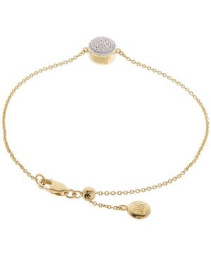 Gold Vermeil Diamond Ava Button Bracelet