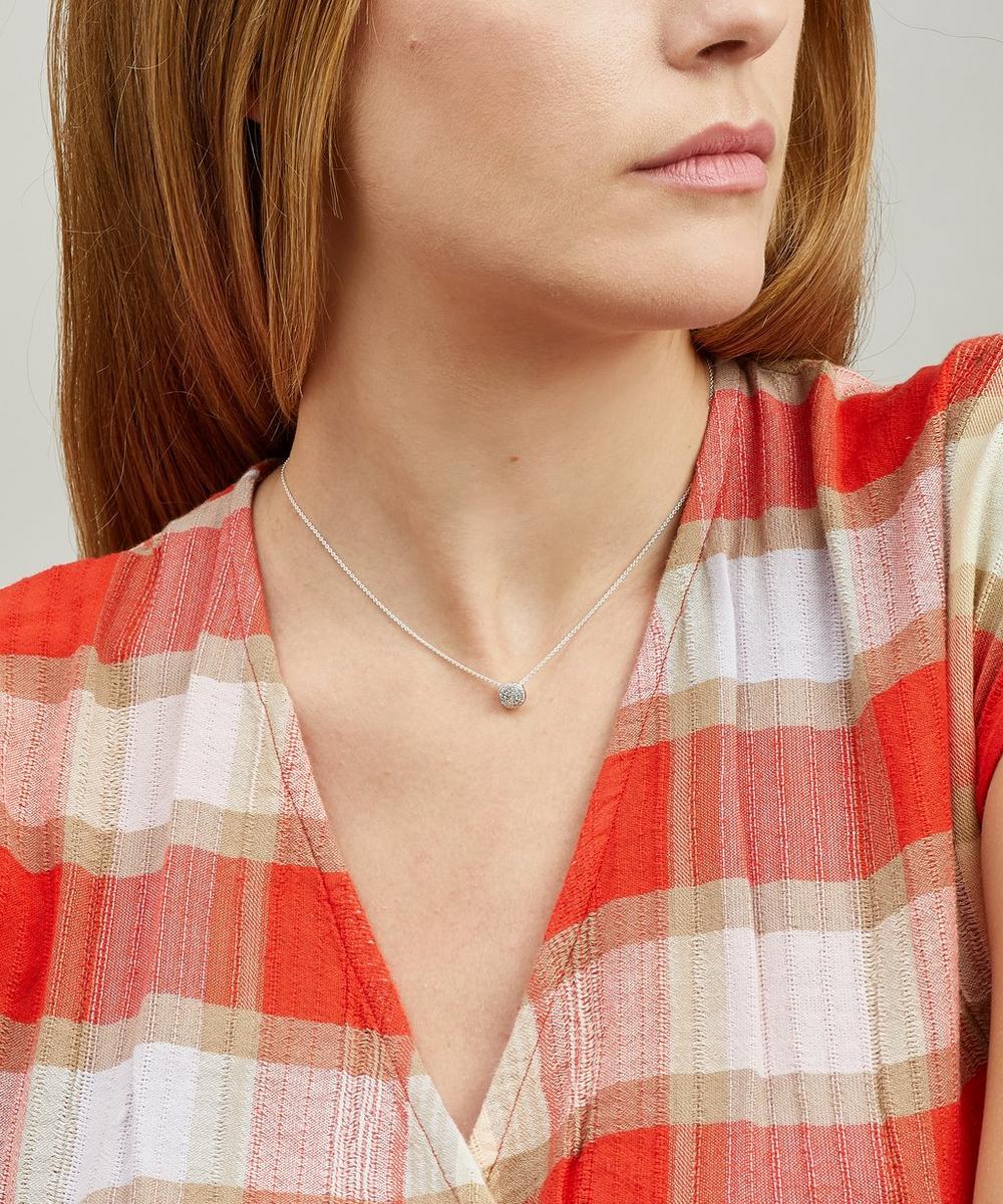 Silver Fiji Diamond Button Necklace