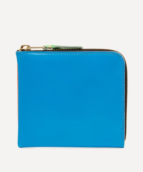 Comme Des Garçons - Green Contrast Fluorescent Half-zip Wallet