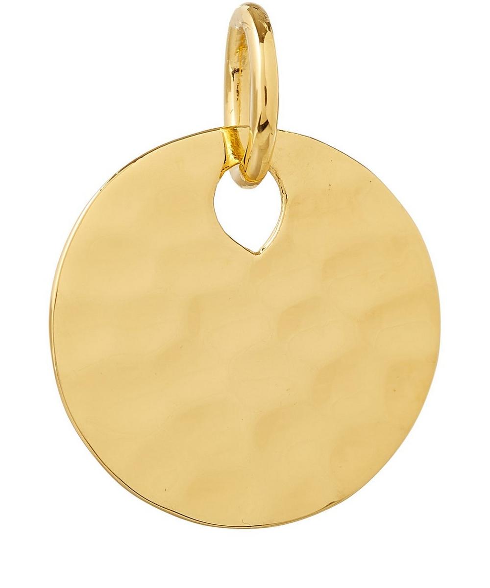 Gold Vermeil Ziggy Round Pendant Charm