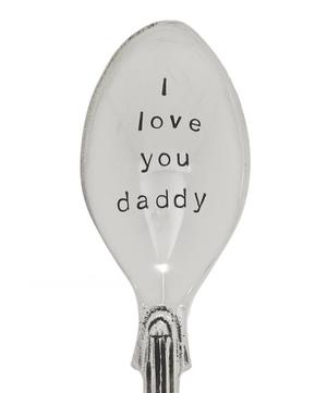 Silver-Plated I Love You Daddy Teaspoon