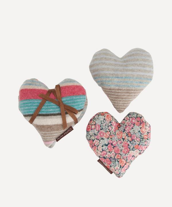 Row Pinto - Pair of Mini Lavender Blossom Hearts