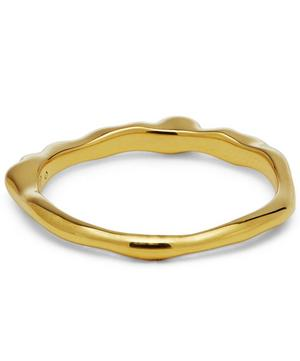 Gold Vermeil Topaz Wide Siren Band