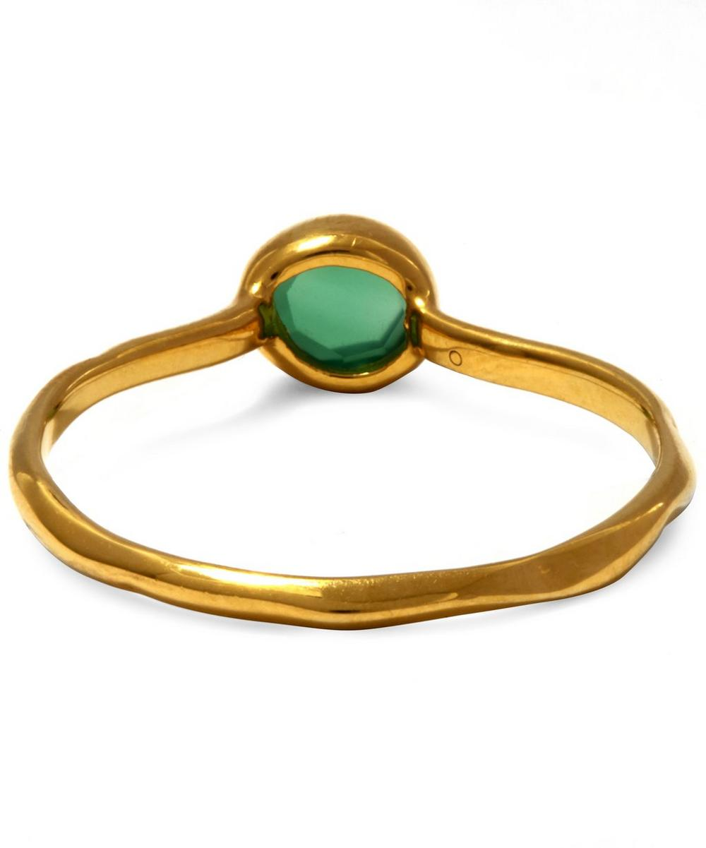 Gold Vermeil Green Siren Small Onyx Stacking Ring