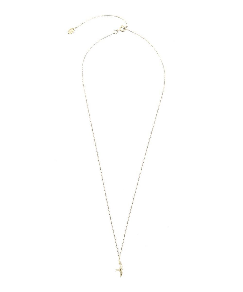 Gold Teeny Tiny Swallow Necklace