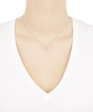 Rose Gold Diamond Letter A Necklace