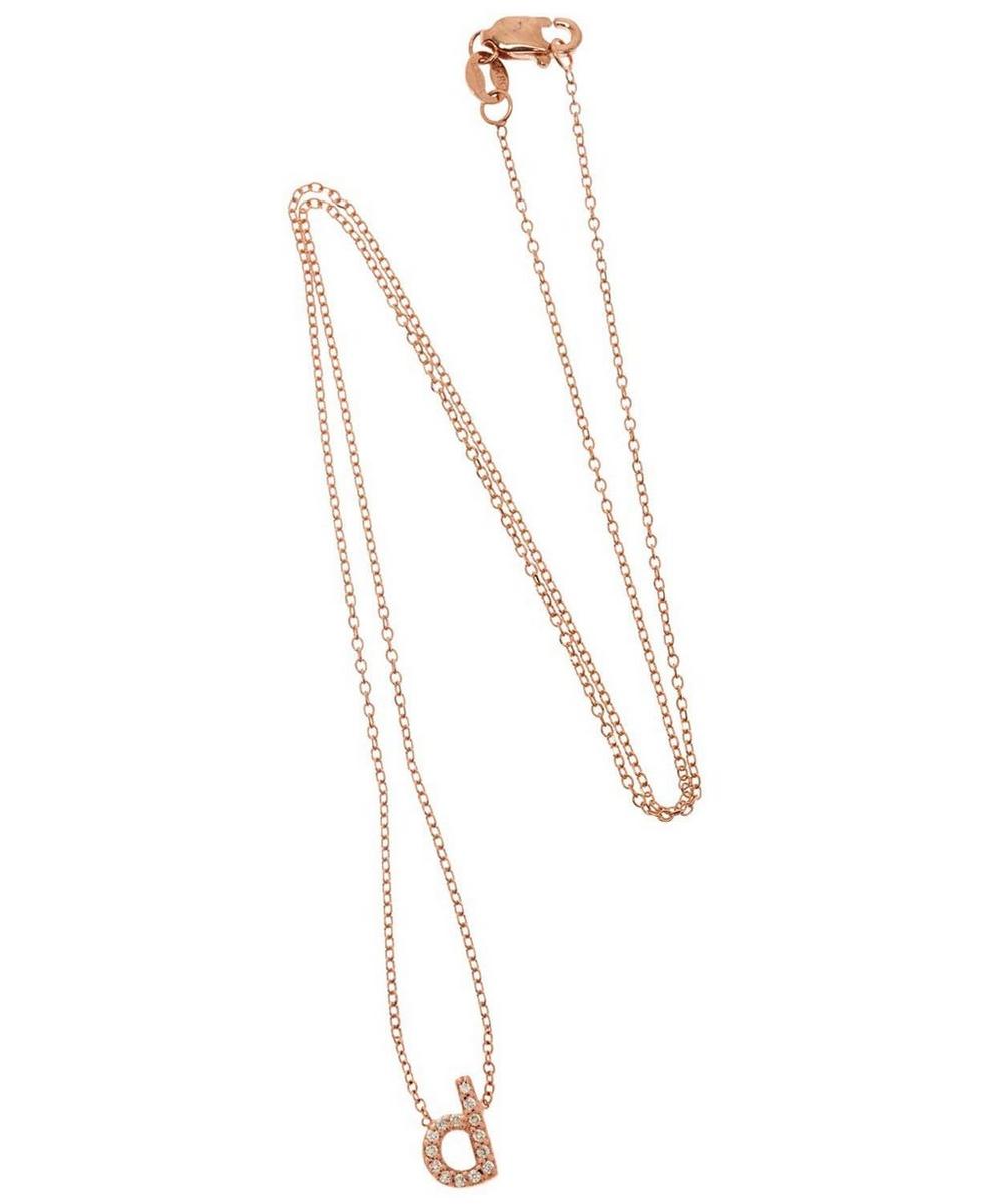 Rose Gold Diamond Letter D Necklace