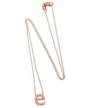 Rose Gold Diamond Letter E Necklace