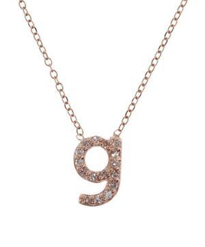 Rose Gold Diamond Letter G Necklace
