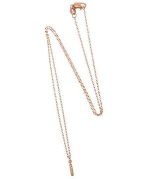Rose Gold Diamond Letter I Necklace