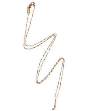 Rose Gold Diamond Letter J Necklace
