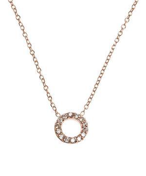 Rose Gold Diamond Letter O Necklace
