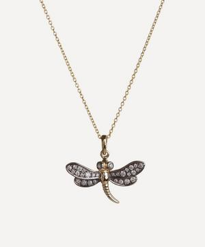 18ct Gold Love Diamonds Dragonfly Necklace