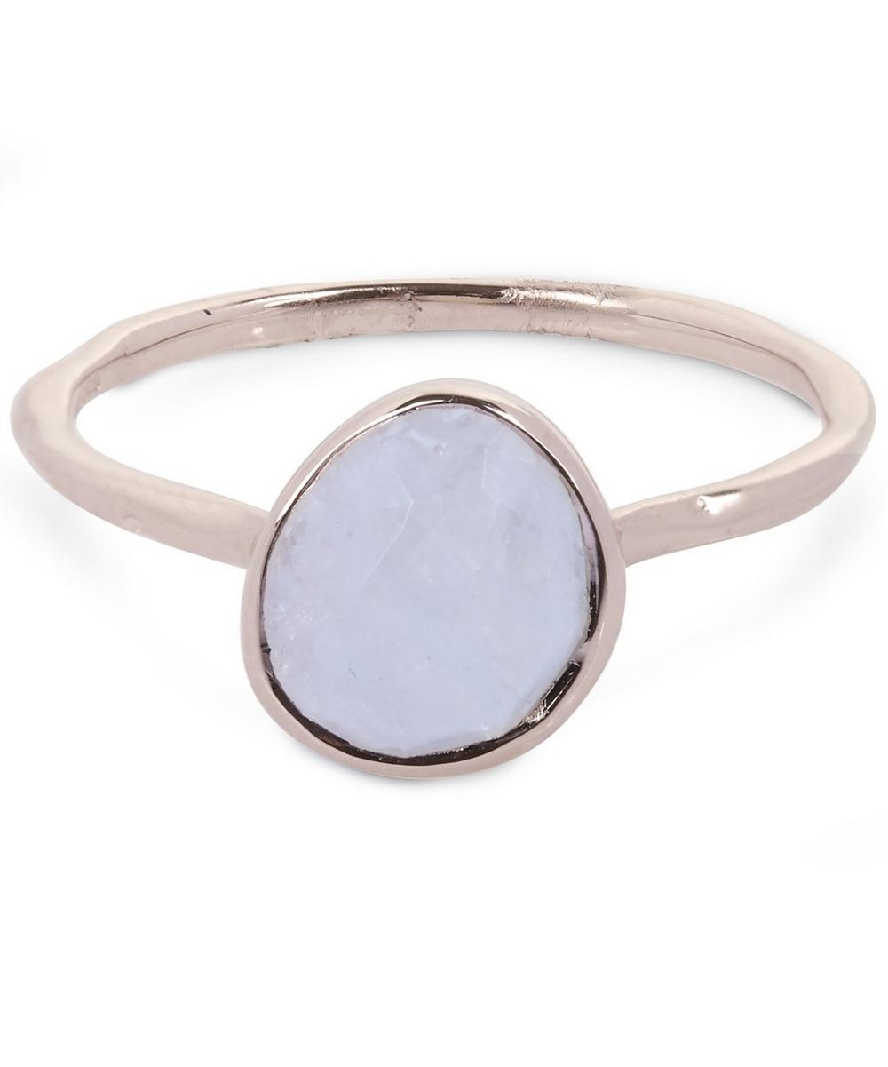 Rose Gold Vermeil Moonstone Siren Stacking Ring