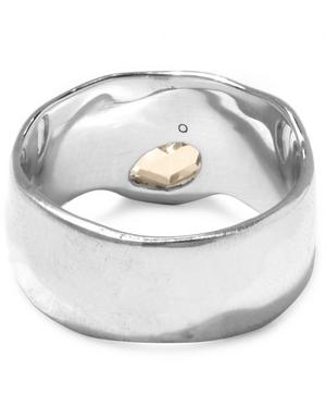Silver White Topaz Wide Siren Band