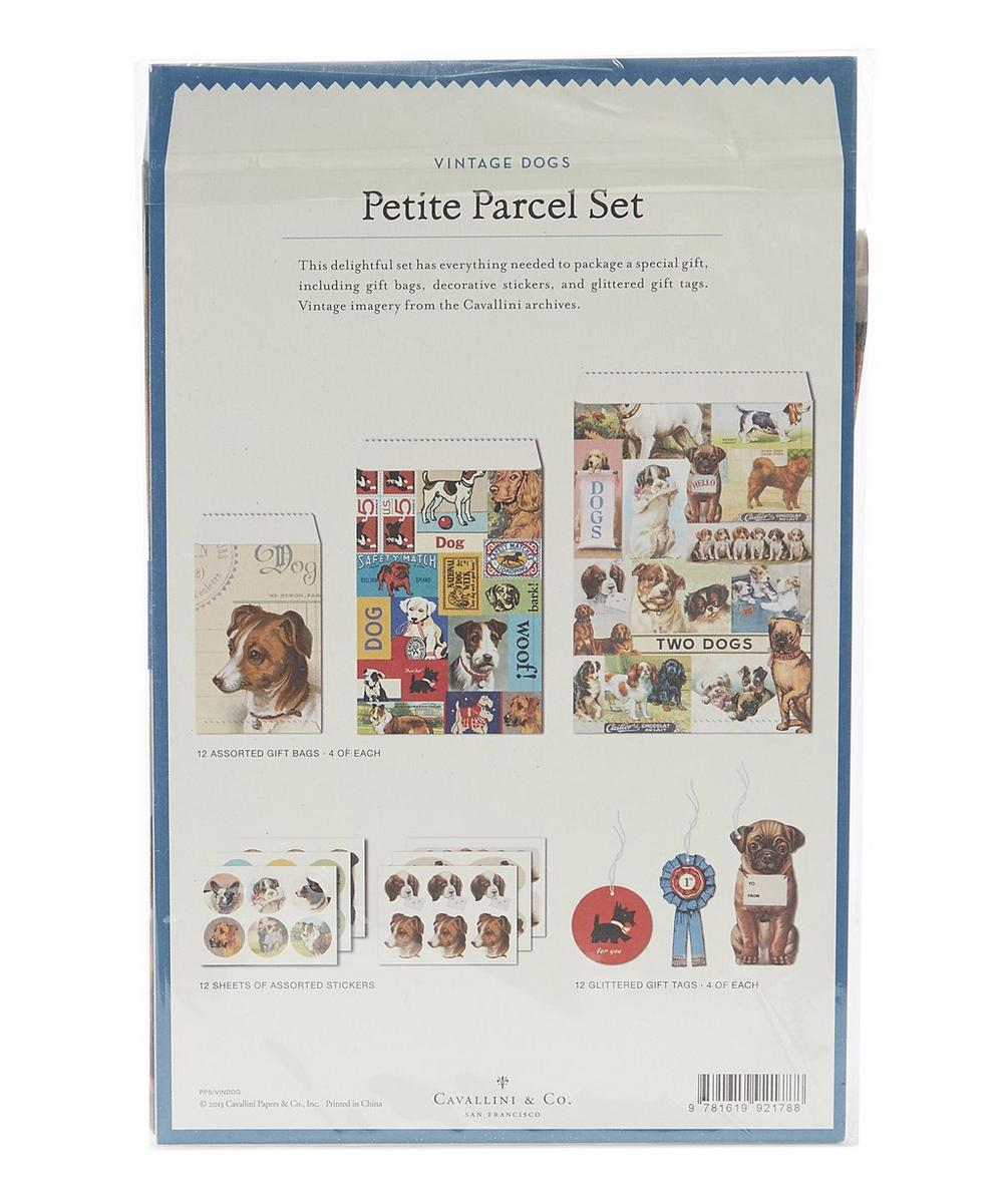 Cavallini Petite Parcel Set Tags /& Stickers Halloween 12 Gift Bags