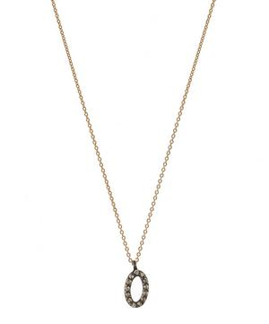 Rose Gold and Diamond 0 Number Necklace