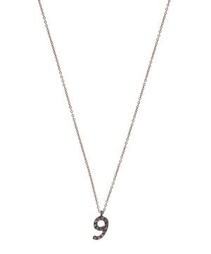 Rose Gold and Diamond Number 9 Necklace