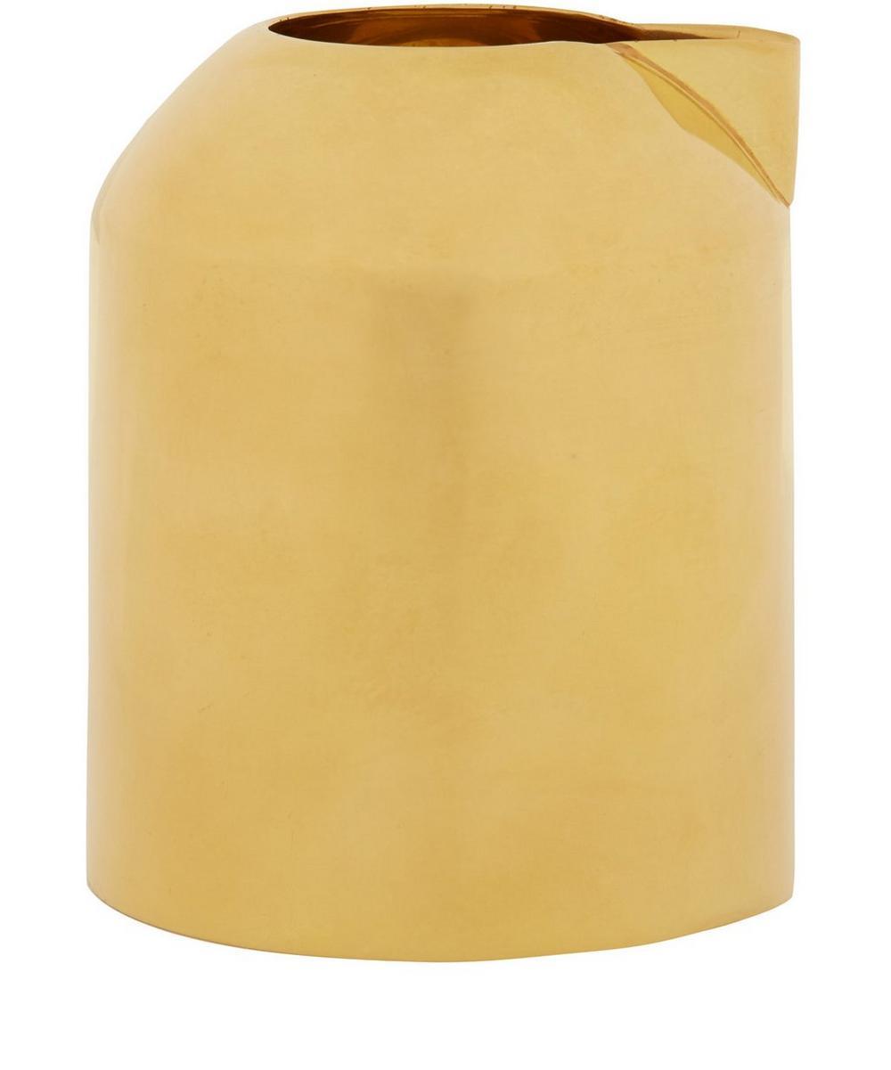 Spun Brass Form Milk Jug