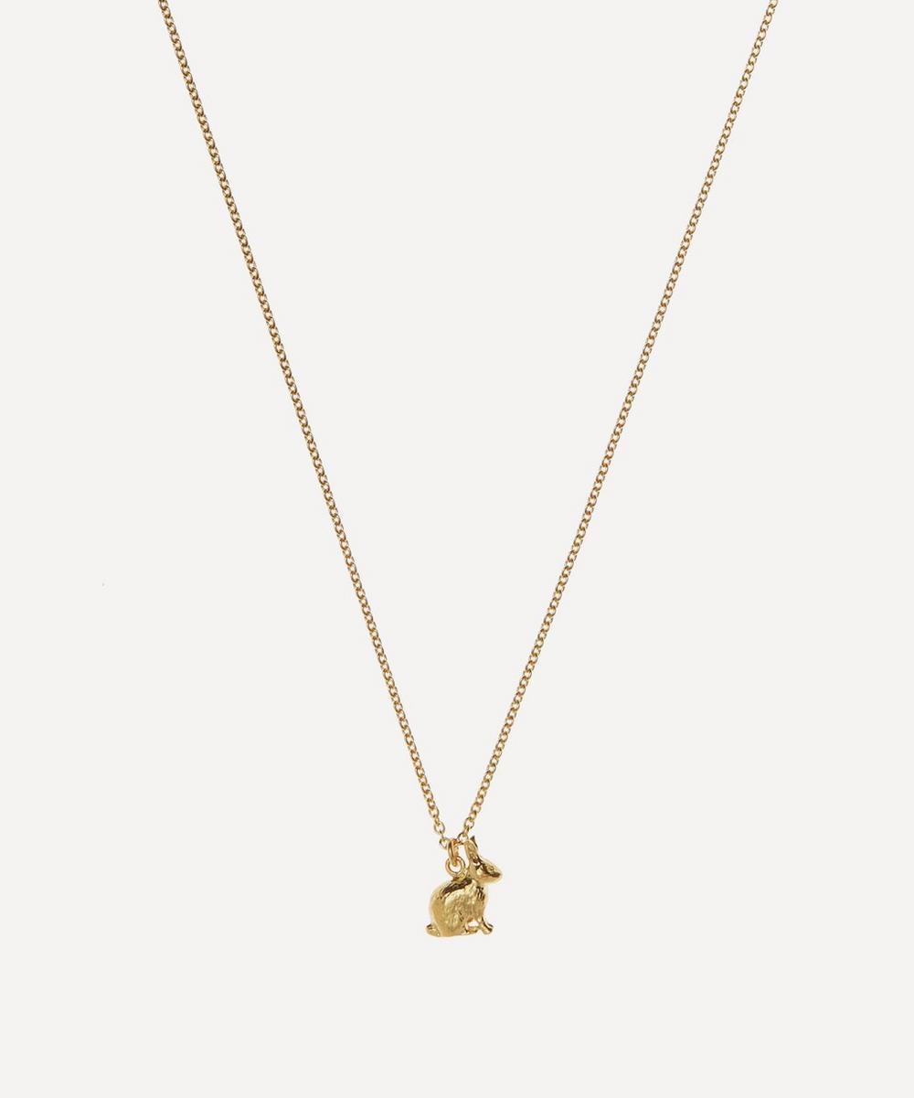 Alex Monroe GOLD-PLATED SITTING BUNNY NECKLACE