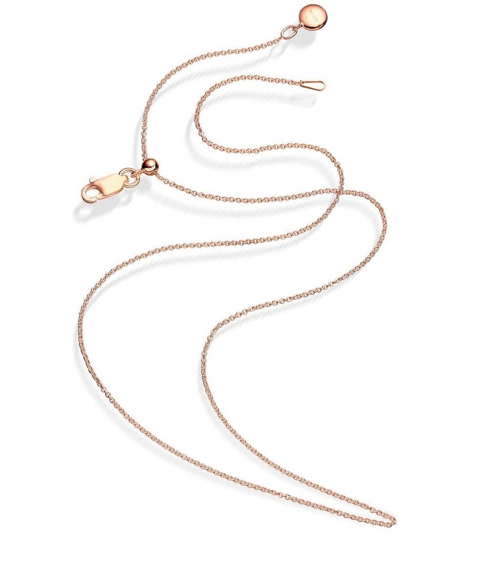 Rose Gold Vermeil Short Rolo Chain