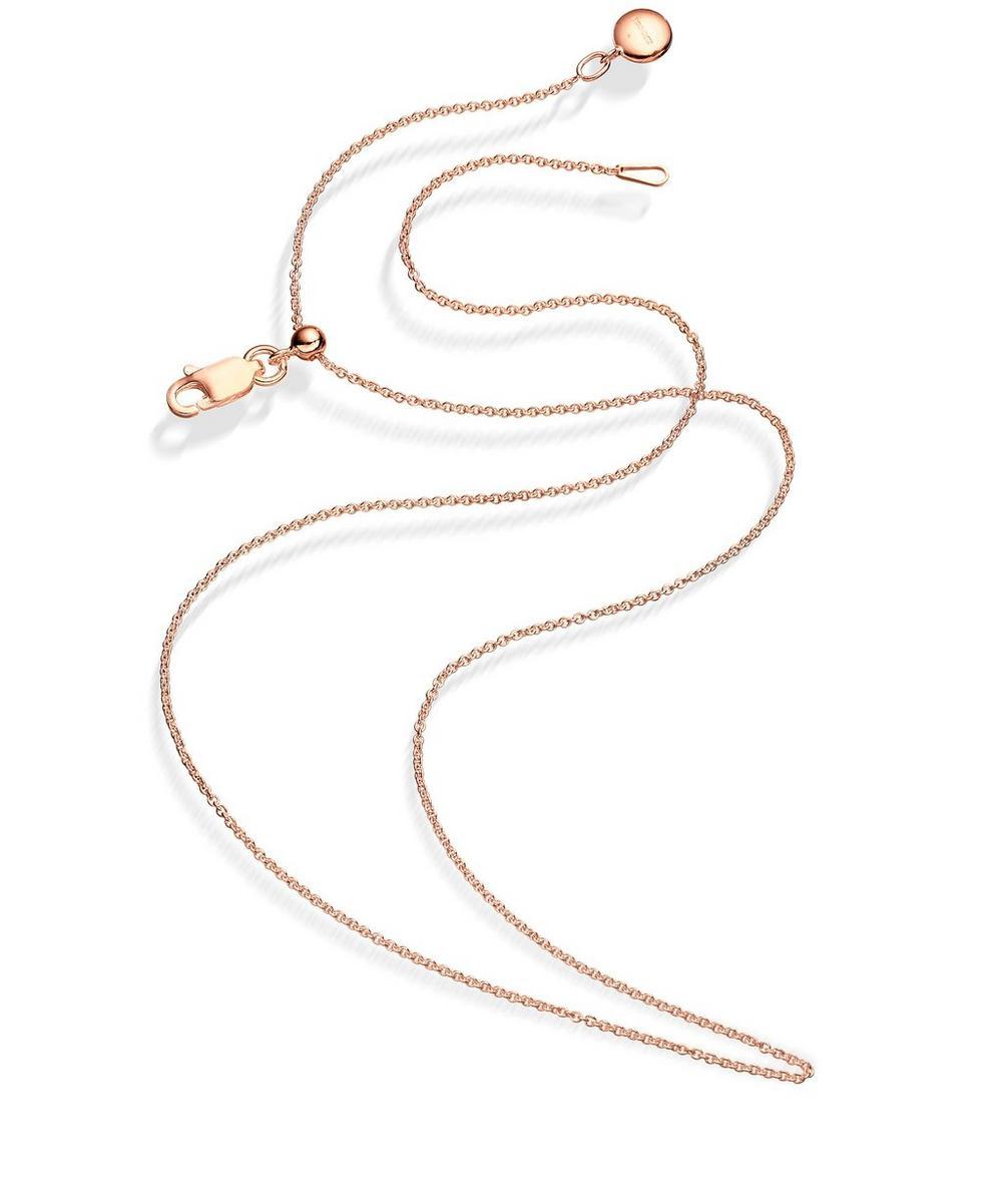 Monica Vinader - Rose Gold Vermeil Short Rolo Chain