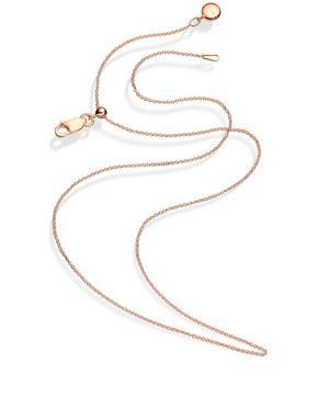 Rose Gold Vermeil Short Rolo Chain