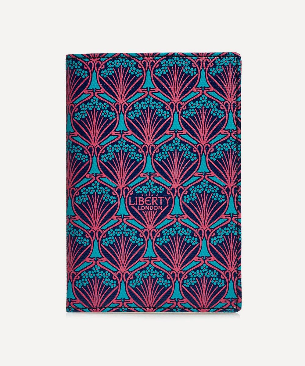 Passport Holder In Iphis Canvas in Blue