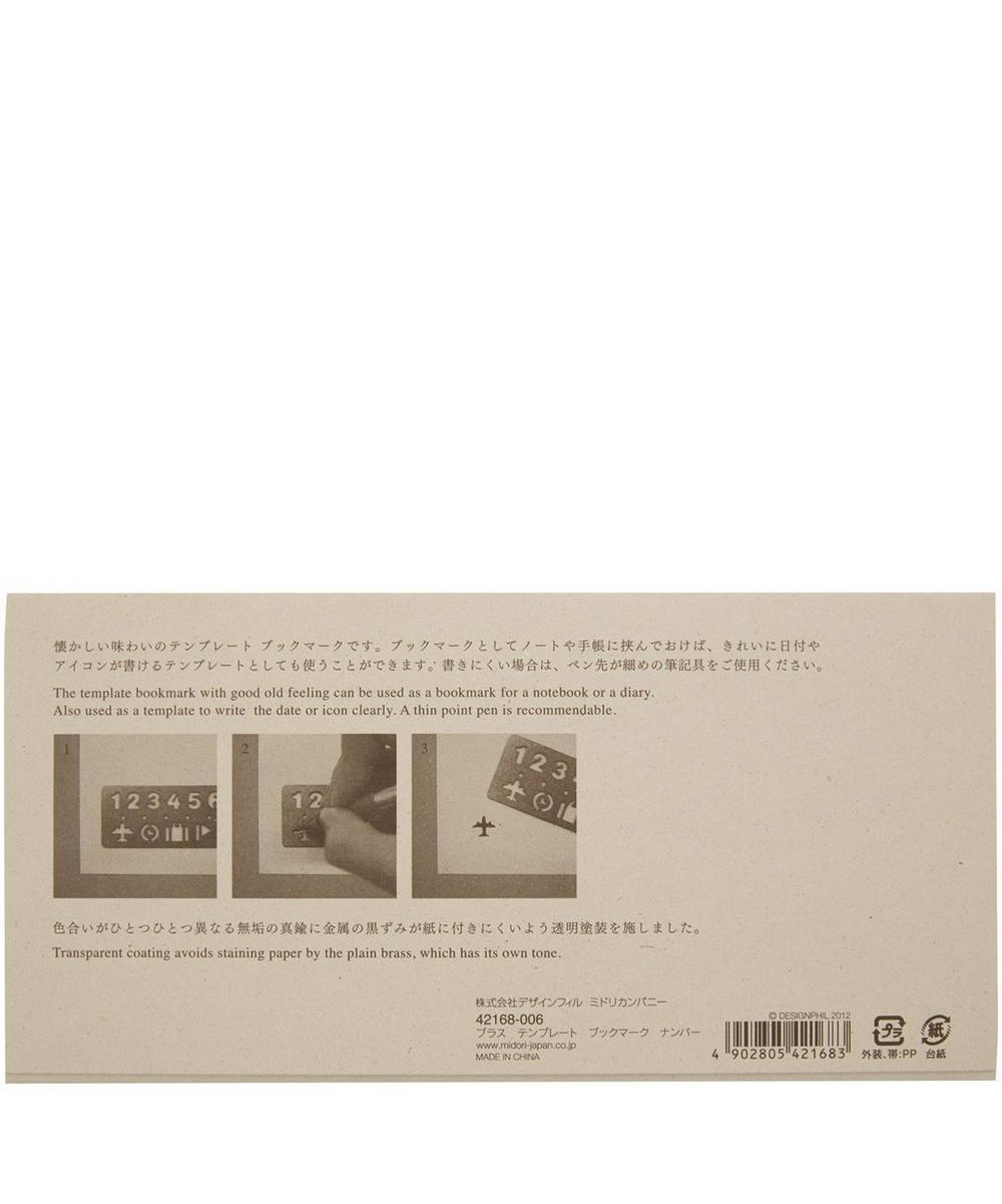 Brass Number Stencil Bookmark