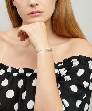Silver Baja Grey Agate Chain Bracelet