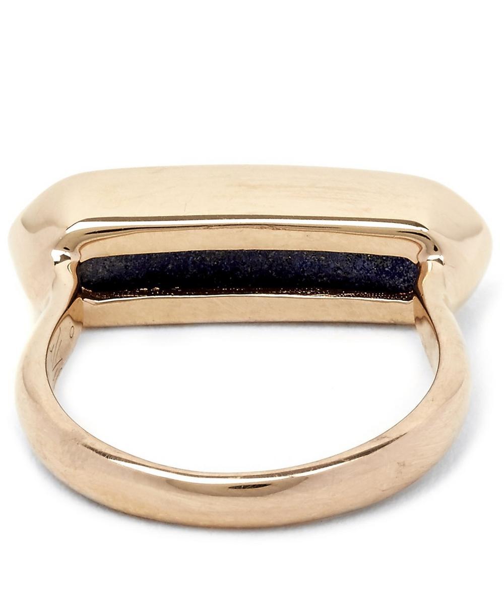 Vermeil Lapis Lazuli Baja Ring