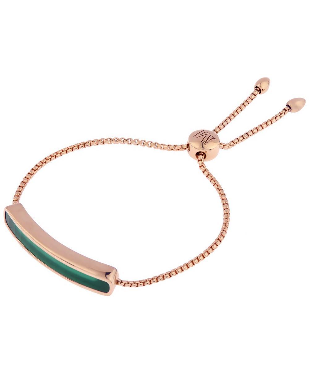 Rose Gold Vermeil Baja Green Onyx Chain Bracelet