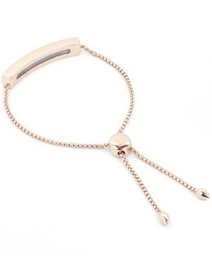 Rose Gold Vermeil Baja Grey Agate Chain Bracelet