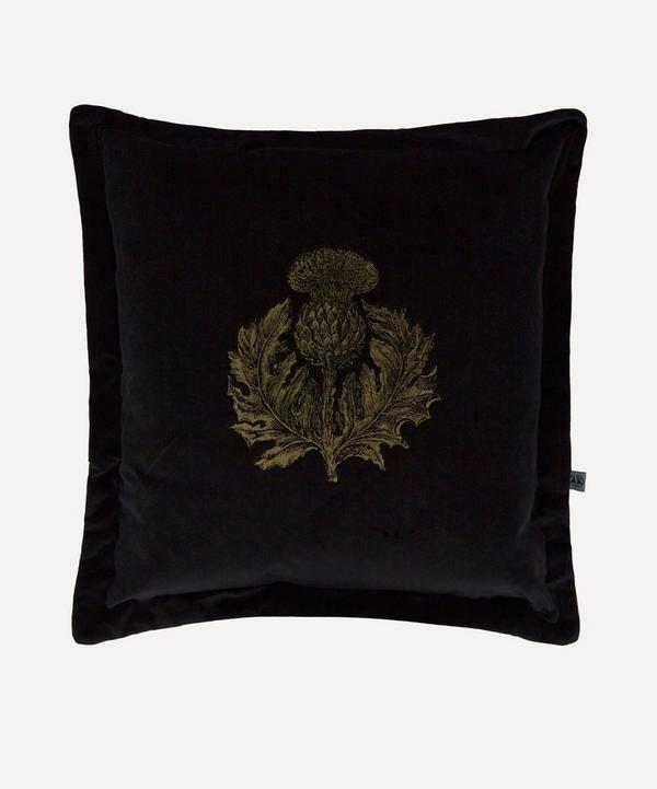 Timorous Beasties - Thistle Velvet Cushion