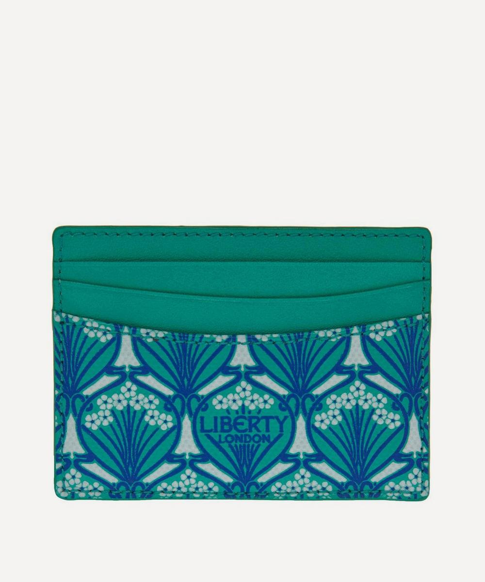 Card Holder In Iphis Canvas in Green