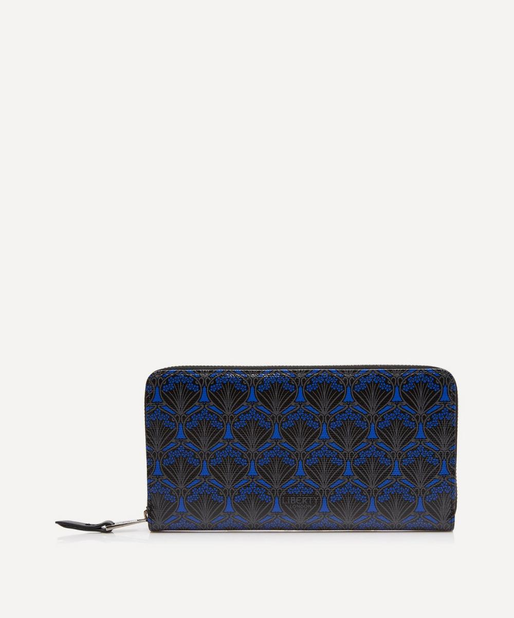 Large Zip-Around Wallet In Iphis Canvas in Blue