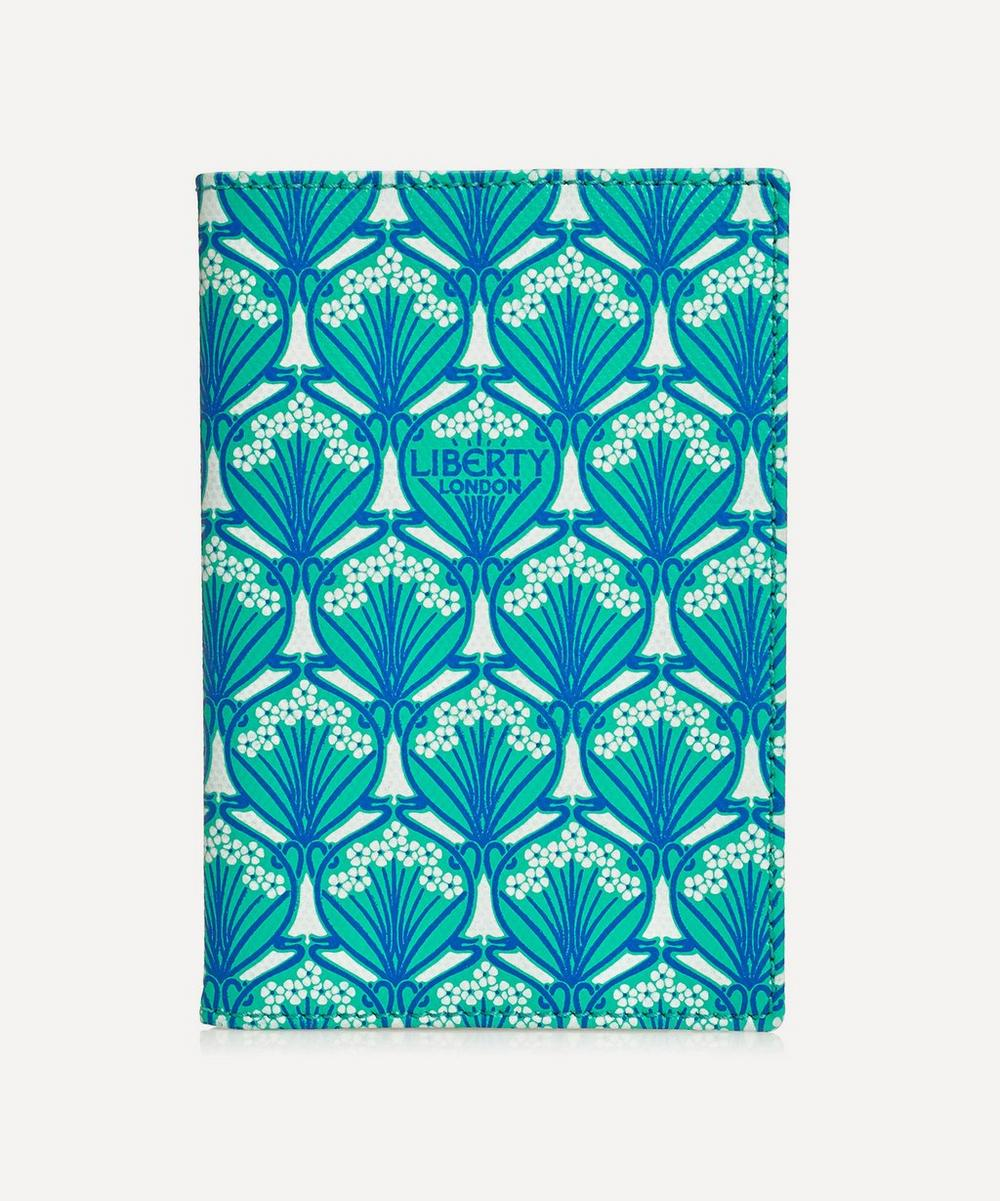 Passport Holder In Iphis Canvas in Green