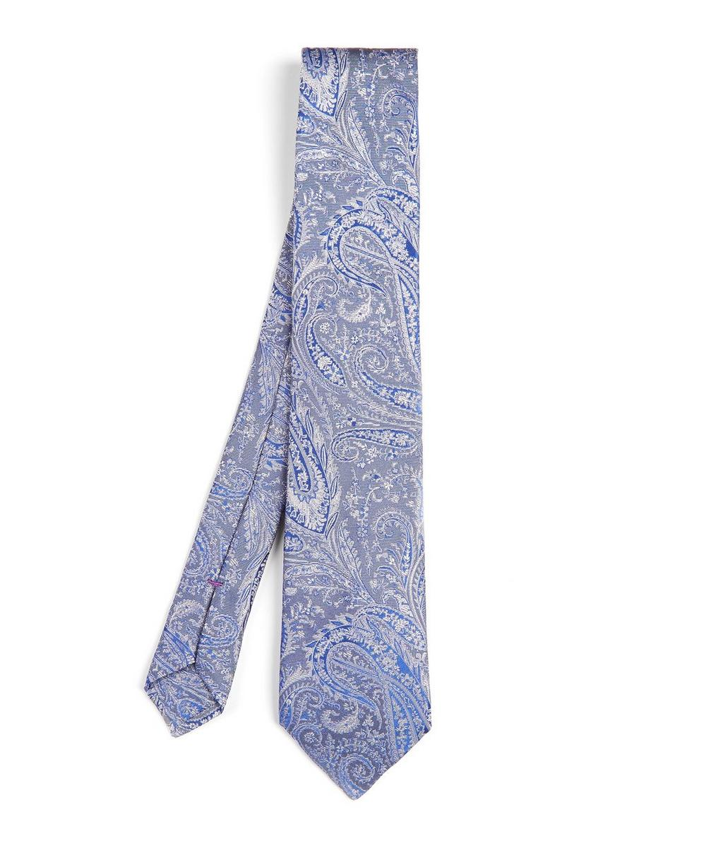 Felix Raisin Woven Silk Tie, Grey
