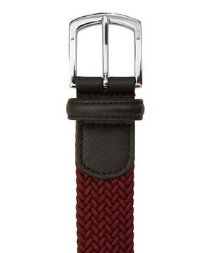 Leather Trimmed Elasticated Woven Belt