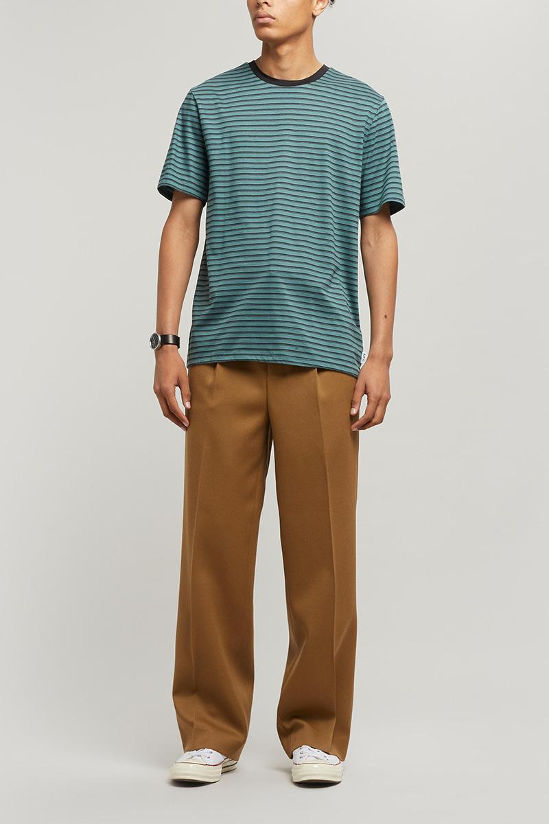AMI Wide-Leg Pleated Trousers