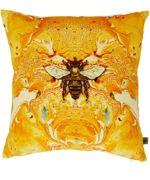 Honey Bee Velvet Cushion