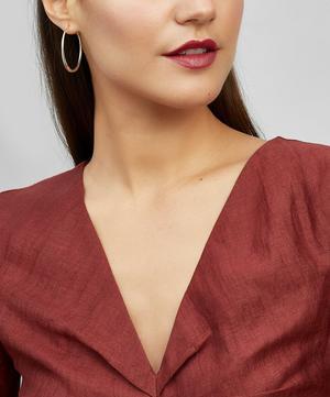 Medium Silver Round Tapering Hoop Earrings