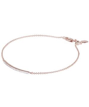 Rose Gold Vermeil Skinny Short Diamond Bar Bracelet