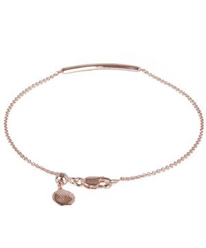 Rose Gold Vermeil Skinny Short Diamond Bar Bracelet