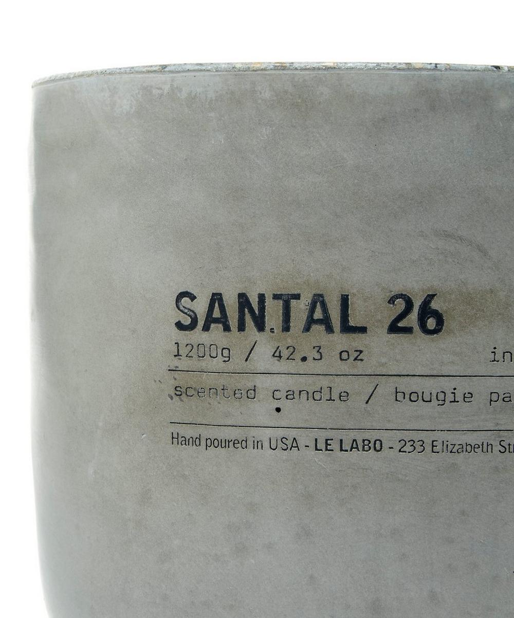 Santal 26 Concrete Candle 1 2kg Liberty London