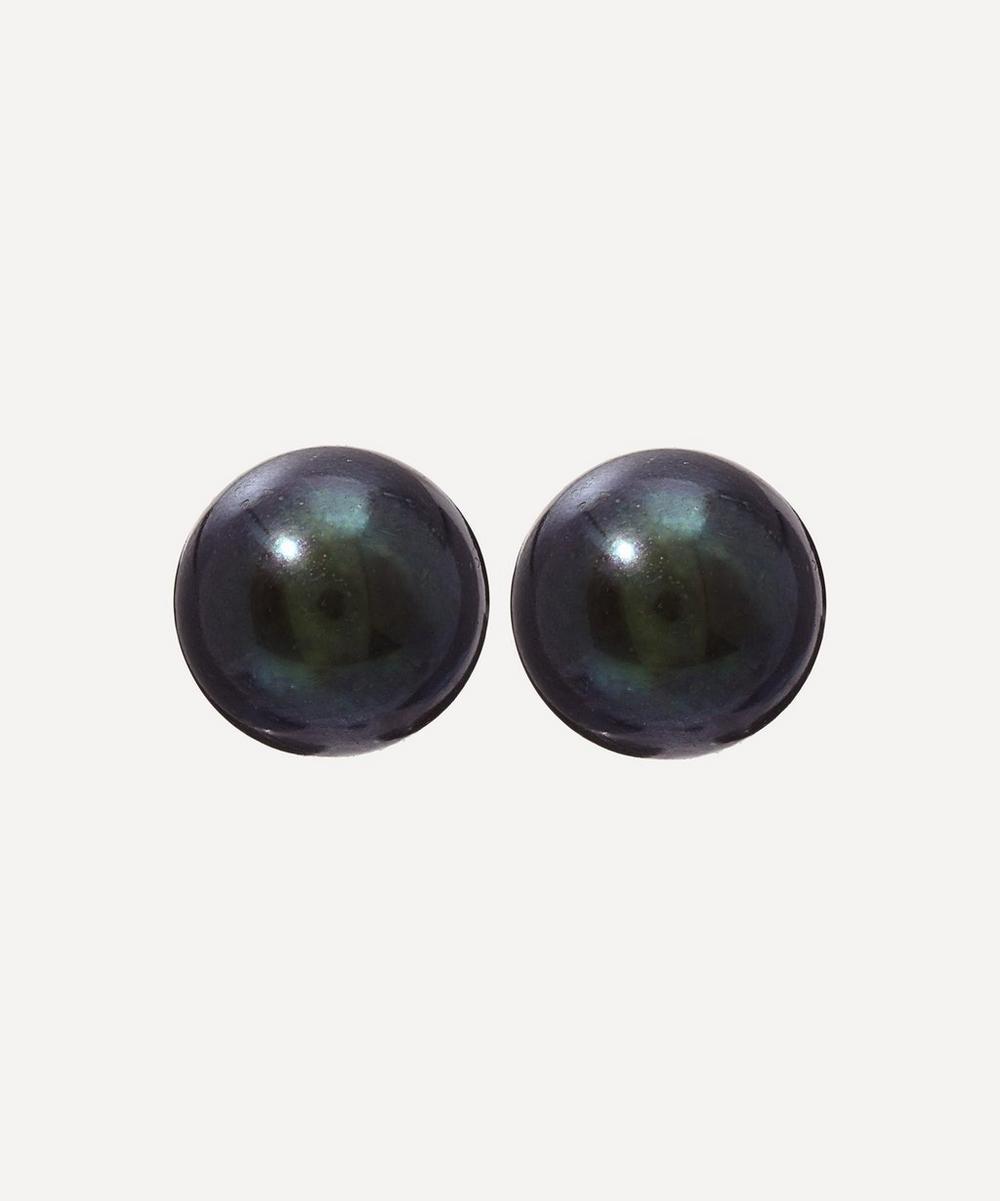Kojis - Black Pearl Stud Earrings